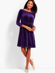 Luxe Velour Scoop-Back Dress