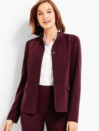 Luxe Knit Stand Collar Jacket