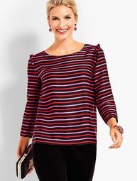 Silky Twill Top - Stripes