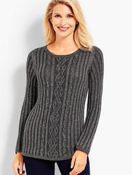 Beaded Cable Sweater