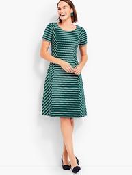 Fit & Flare Dress-Stripe