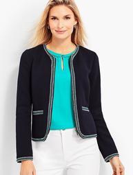 Braided-Trim Jacket