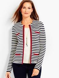 Stripe Sweater Jacket