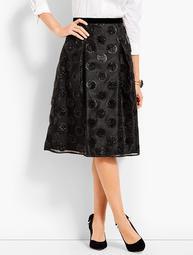 Lurex® Clip Dot Full Skirt