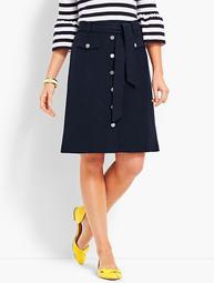 Bella Button Through A-Line Skirt