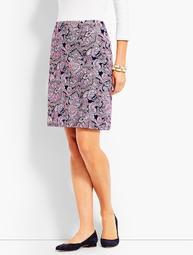 Resort Paisley Faux-Wrap Skirt