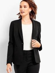 Luxe Knit Single-Button Blazer