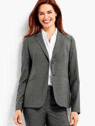 Seasonless Wool Double-Button Blazer