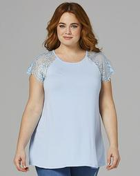 Lace Sleeve Swing Top
