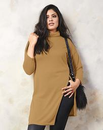Split Side Turtleneck Tunic