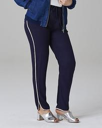 Curved Hem Tipped Pants