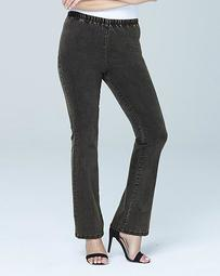 Gray Pull-On Bootcut Jeggings