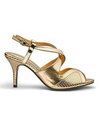Heavenly Soles Cut Out Comfort Occasion Shoes