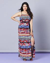 Simply Be Print Column Maxi Dress