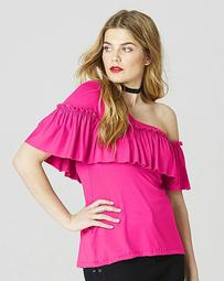 Simply Be Ruffle One Shoulder Top