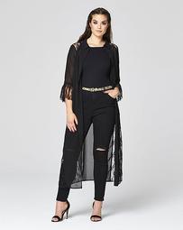 Simply Be Lace Insert Maxi Shirt Dress