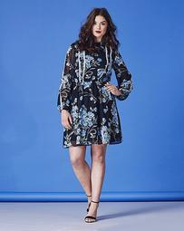 Simply Be Crochet Trim Floral Dress