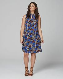 Lovedrobe Tie Neck Shift Dress