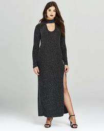 Simply Be Lurex High Split Maxi Dress