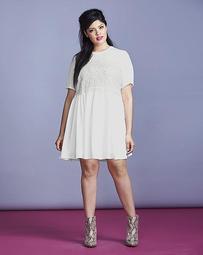 Simply Be Crochet Bodice Dress