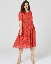 Dusky Pink Lace Layer Prom Dress