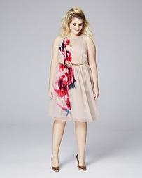 Little Mistress Printer Skater Dress