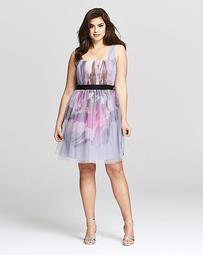 Little Mistress Floral Prom Dress