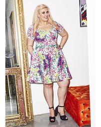 Sprinkle Of Glitter Printed Dress