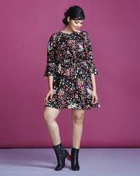 Simply Be Ditzy Print Dress