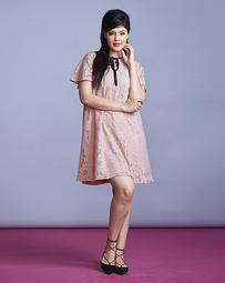 Simply Be Lace Dress With Tipping