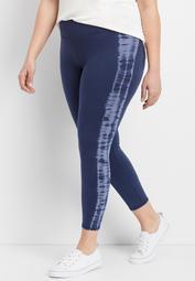 plus size 7/8 length tie dye legging