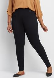 the plus size high rise ponte skinny ankle pant