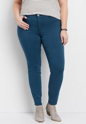DenimFlex™ plus size jegging in rich teal
