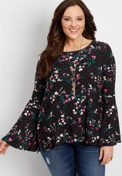 plus size 24/7 bell sleeve blouse