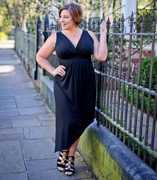 Plus Size Asymmetric Maxi Dress
