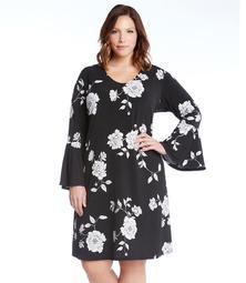 Plus Size Flare Sleeve Taylor Dress