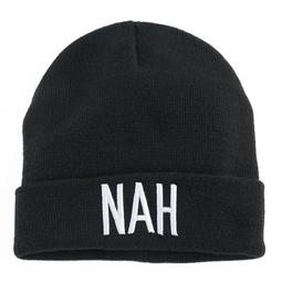 "Women's Mudd® Embroidered ""Nah"" Beanie"