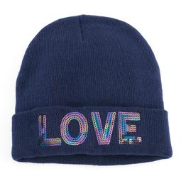 "Women's Mudd® Sequined ""Love"" Beanie"