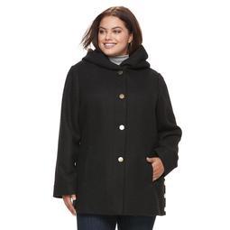 Plus Size Apt. 9® Faux-Wool Hooded Jacket