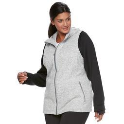 Plus Size Tek Gear® Fleece Mixed-Media Jacket