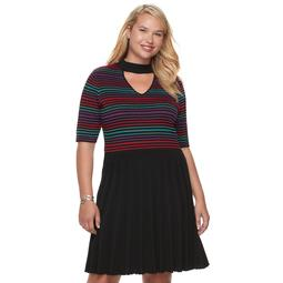 Kohls Juniors\' Plus Size Candie\'s® Choker Neck Skater Dress - On Sale for  $18.00 (regular price: $60.00)