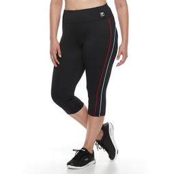 Plus Size FILA SPORT® Piping Capri Leggings
