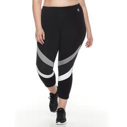 Plus Size FILA SPORT® Contrast Running Capri Leggings