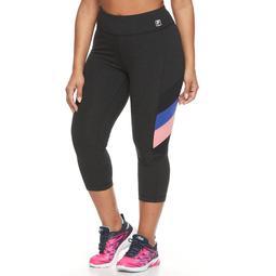 Plus Size FILA SPORT® Side Panel Stripe Capri Leggings
