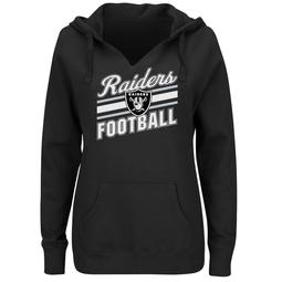 Plus Size Majestic Oakland Raiders Notched Hoodie
