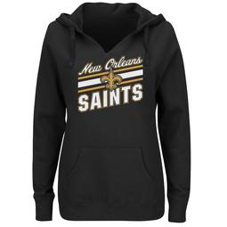 Plus Size Majestic New Orleans Saints Notched Hoodie