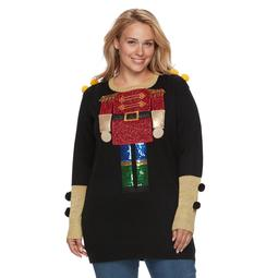 Kohls Plus Size Fashion Avenue Us Sweaters Applique Ugly Christmas