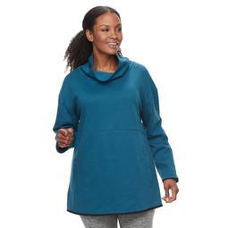Plus Size Tek Gear® Fleece Funnel Neck Pullover Top