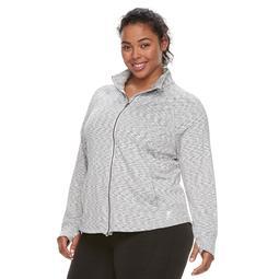 Plus Size FILA SPORT® Knit Thumb Hole Jacket