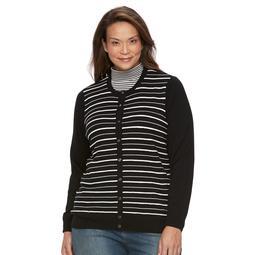 Plus Size Croft & Barrow® Button Front Cardigan